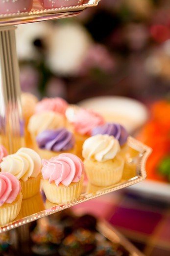 Stock Photo: 1828R-87858 Close-up of Cupcakes