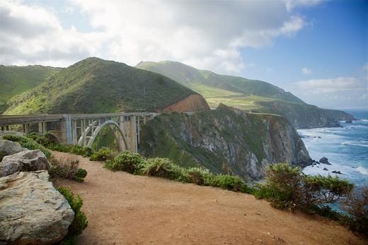 Bixby Creek Bridge, Big Sur, California, USA : Stock Photo