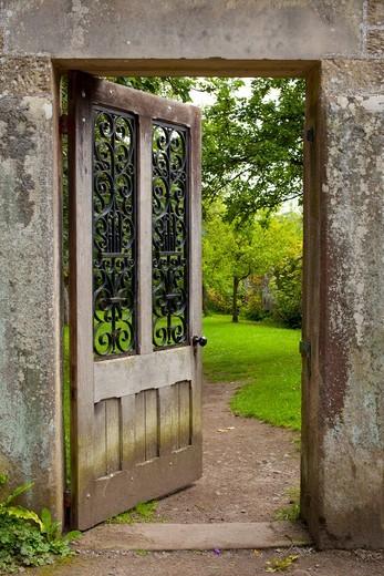 Stock Photo: 1828R-88074 Doorway, Walled Garden, Wallington Hall, Northumberland, North East England, England
