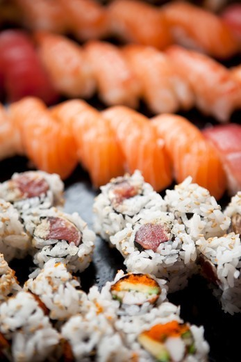 Variety of Sushi, Toronto, Ontario, Canada : Stock Photo