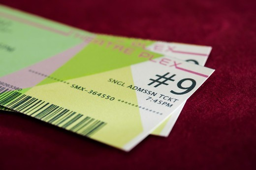Stock Photo: 1828R-88139 Movie Tickets