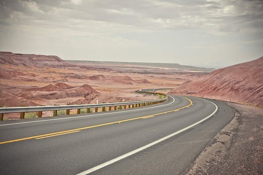 Stock Photo: 1828R-88492 Highway 160, near Tuba City, Arizona, USA