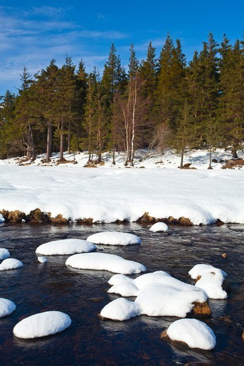River Muick, Cairngorms National Park, Scottish Highlands, Scotland : Stock Photo