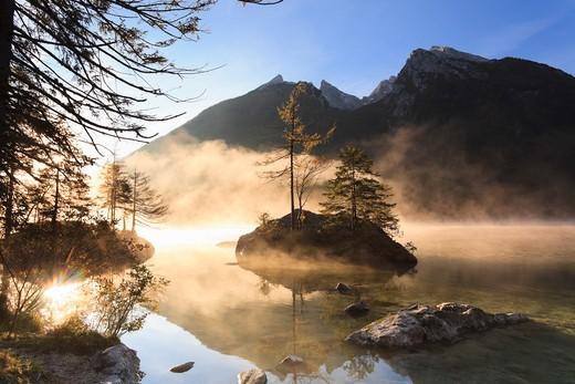 Stock Photo: 1828R-88552 Lake Hintersee, Bavaria, Germany