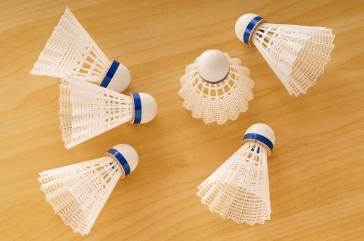 Badminton Birdies : Stock Photo