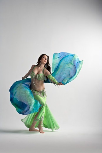 Stock Photo: 1828R-88801 Woman Belly Dancing