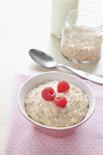 Stock Photo: 1828R-88857 Bowl of Porridge