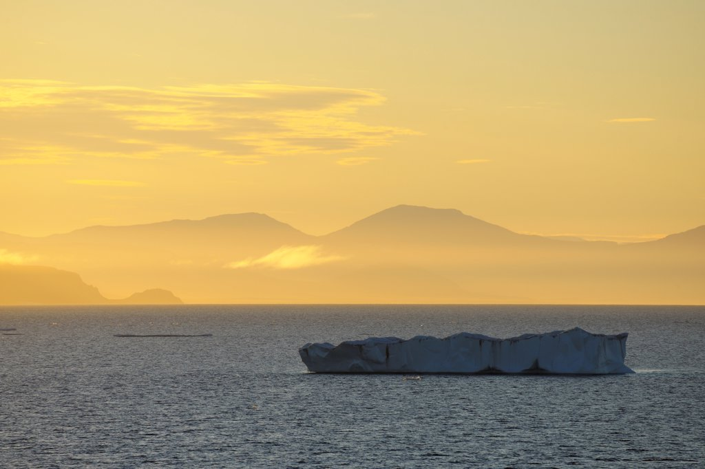 Stock Photo: 1828R-88872 Iceberg, Kejser Franz Joseph Fjord, Greenland