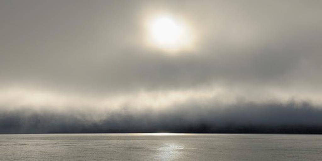 Stock Photo: 1828R-88886 Fog, Kejser Franz Joseph Fjord, Greenland