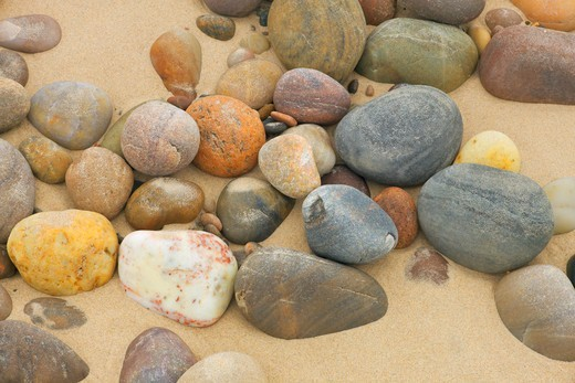 Stock Photo: 1828R-88934 Pebbles on Beach, Findhorn, Moray, Scotland