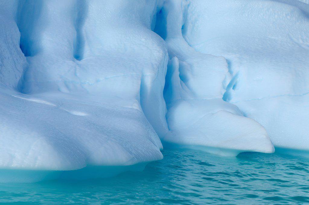 Iceberg, Nanortalik, Kujalleq, Kejser Franz Joseph Fjord, Greenland : Stock Photo