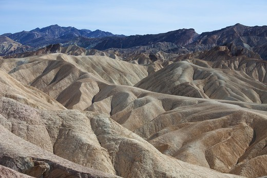 Stock Photo: 1828R-89123 Zabriskie Point, Death Valley National Park, California, USA