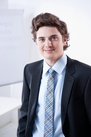 Stock Photo: 1828R-89229 Portrait of Young Businessman
