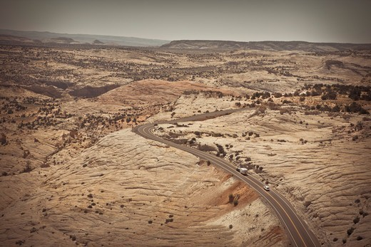 State Route 12 View From Head of the Rocks, Garfield County, Utah, USA : Stock Photo