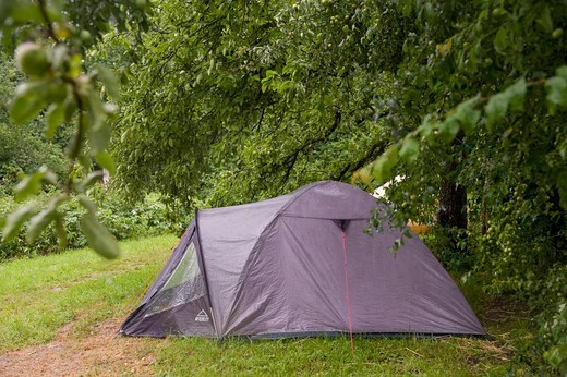Stock Photo: 1828R-89389 Camping Tent, Freiburg, Baden-Wurttemberg, Germany