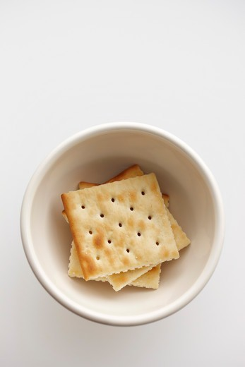 Soda Crackers in Bowl : Stock Photo