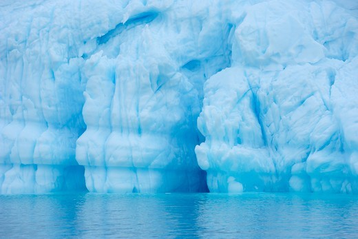 Blue Iceberg, Rode Fjord, Scoresby Sund, Greenland : Stock Photo