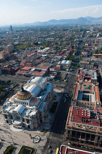 Stock Photo: 1828R-89645 Palacio de Bellas Artes, Distrito Federal, Mexico City, Mexico