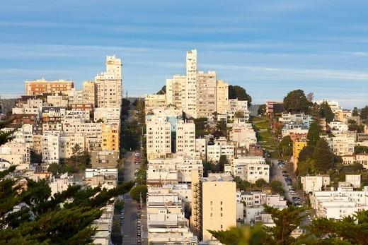 Russian Hill Neighborhood, San Francisco, California, USA : Stock Photo