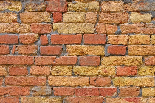 Stock Photo: 1828R-89847 Brick Wall, Venice, Veneto, Italy