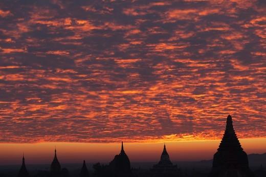 Stupas, Bagan, Mandalay Division, Myanmar : Stock Photo