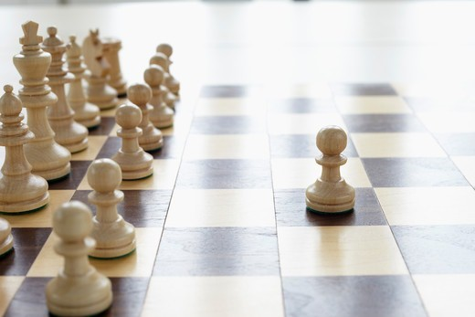 Chessboard and Chess Pieces : Stock Photo