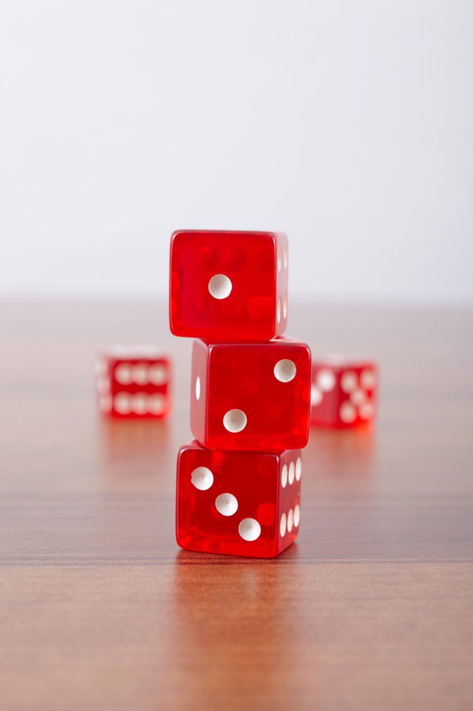 Stock Photo: 1828R-91250 Red Dice