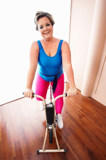 Stock Photo: 1828R-9501 Portrait of Woman Exercising