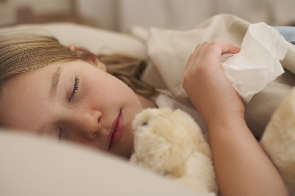 Stock Photo: 1828R-9727 Girl Sleeping
