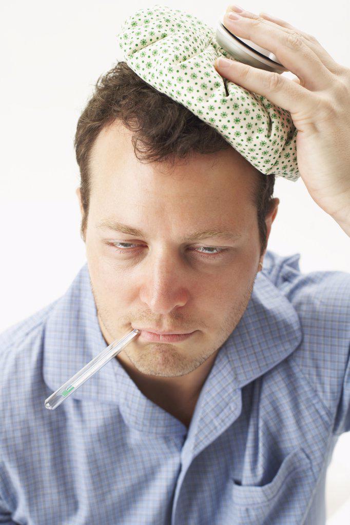 Stock Photo: 1828R-9736 Man with Headache
