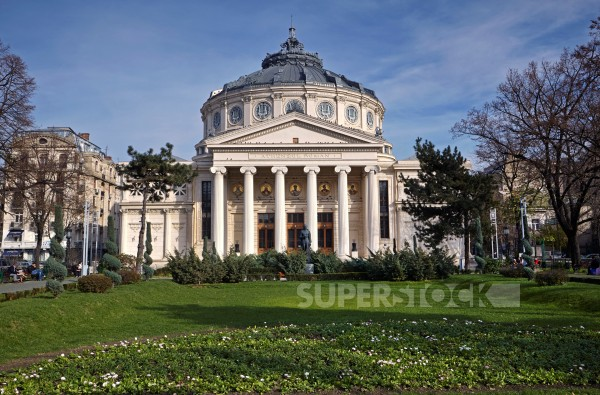 Stock Photo: 1828R-99505 Romanian Athenaeum, Bucharest, Romania. 11/19/2010