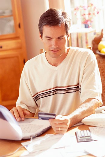 Man Banking Online : Stock Photo