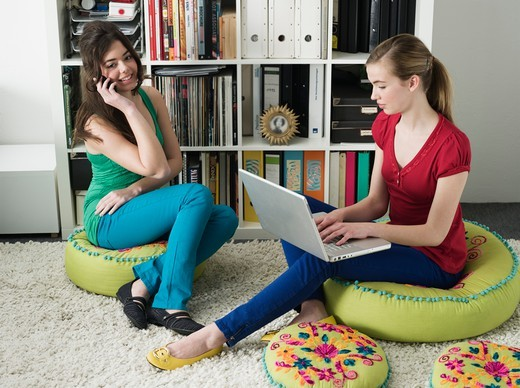 Teenage Girls Hanging Out : Stock Photo