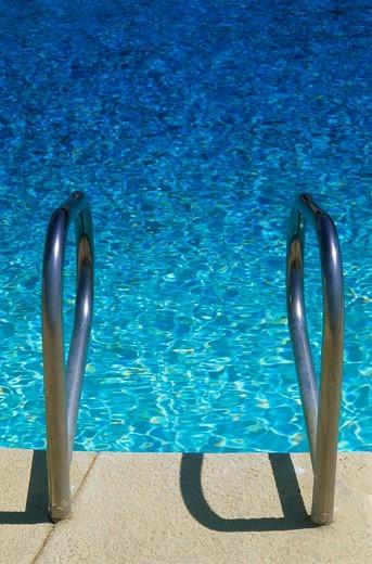 Swimming Pool Ladder : Stock Photo