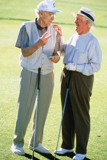 Veteran golfers : Stock Photo