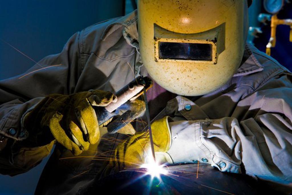 Industrial Welder : Stock Photo