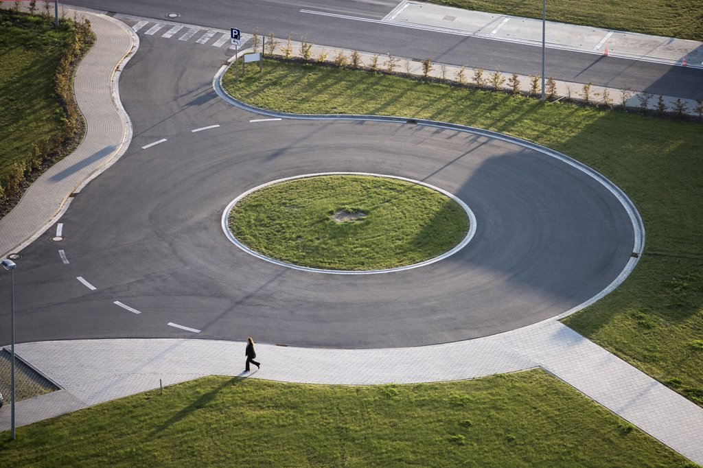 Stock Photo: 1838-10055 Traffic Circle
