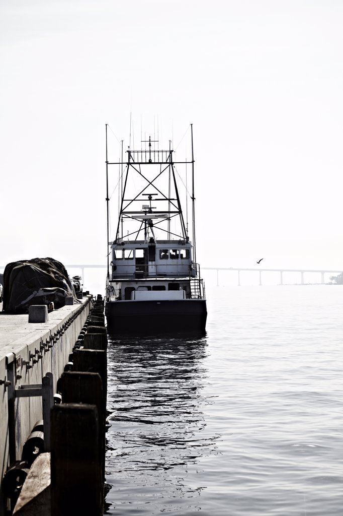 Stock Photo: 1838-10942 Fishing Boat, San Diego, California, USA