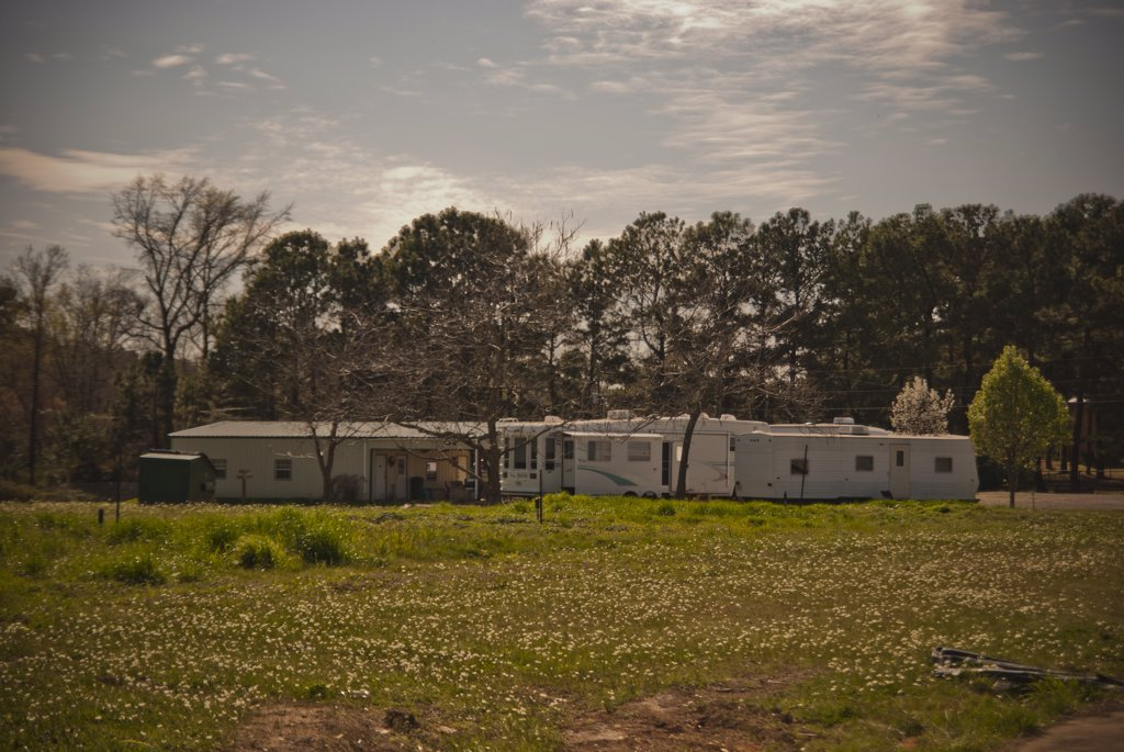 Stock Photo: 1838-11318 Parked Trailers, Texas, USA