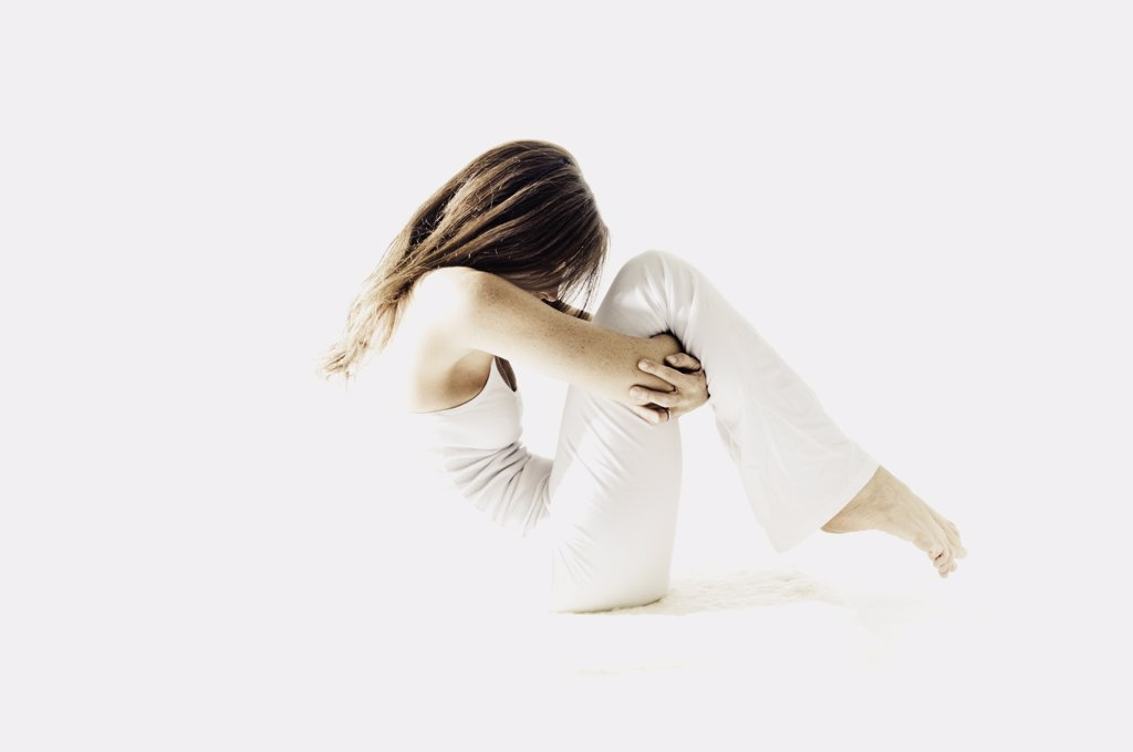 Stock Photo: 1838-1142 Woman Doing Yoga Pose
