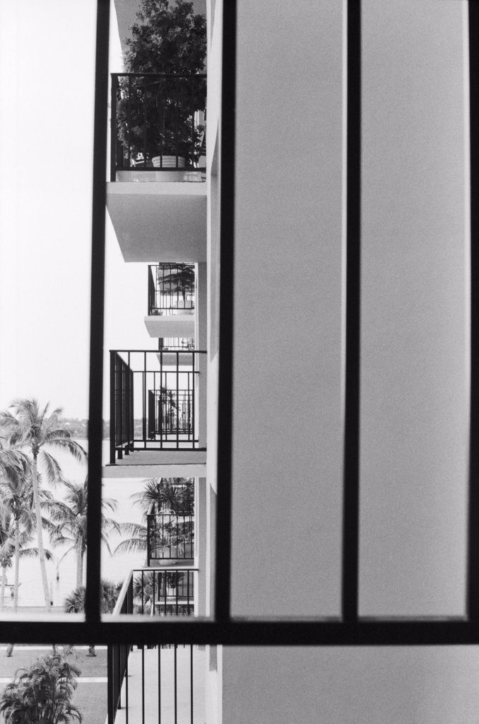 Stock Photo: 1838-13119 High-Rise Balconies, Florida, USA