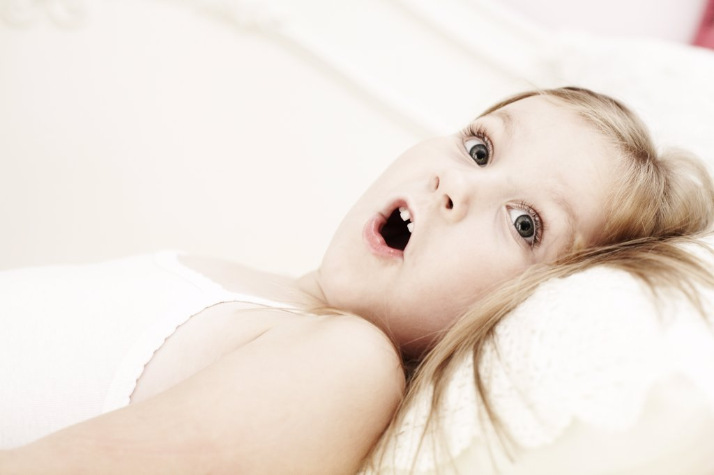 Young Girl With Shocked Expression : Stock Photo