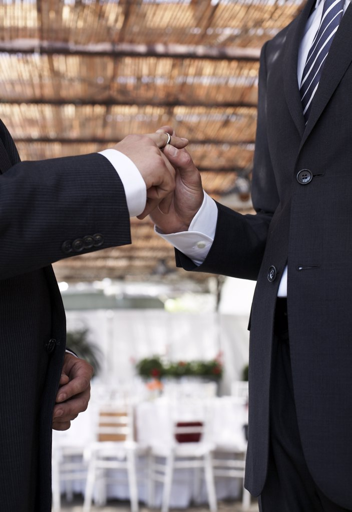 Two Men Getting Married : Stock Photo