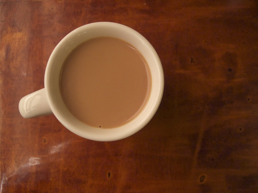 Stock Photo: 1838-13579 Cup of Coffee, High Angle View