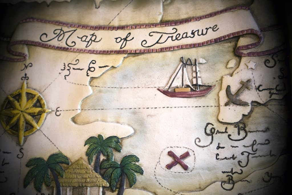 Stock Photo: 1838-13588 Treasure Map