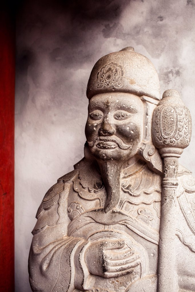 Stock Photo: 1838-13654 Stone Soldier, Templeof Literature, Hanoi, Vietnam