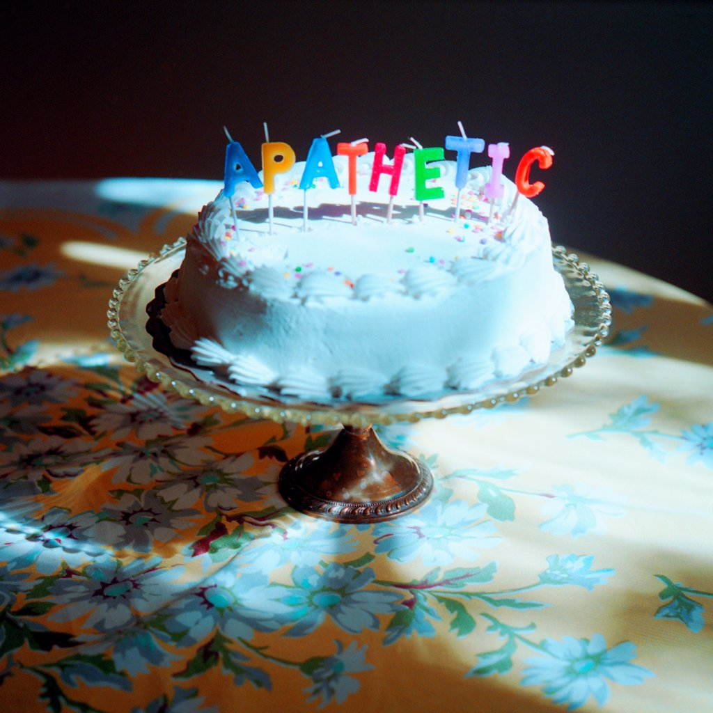 Stock Photo: 1838-13686 Birthday Cake With Apathetic Candles