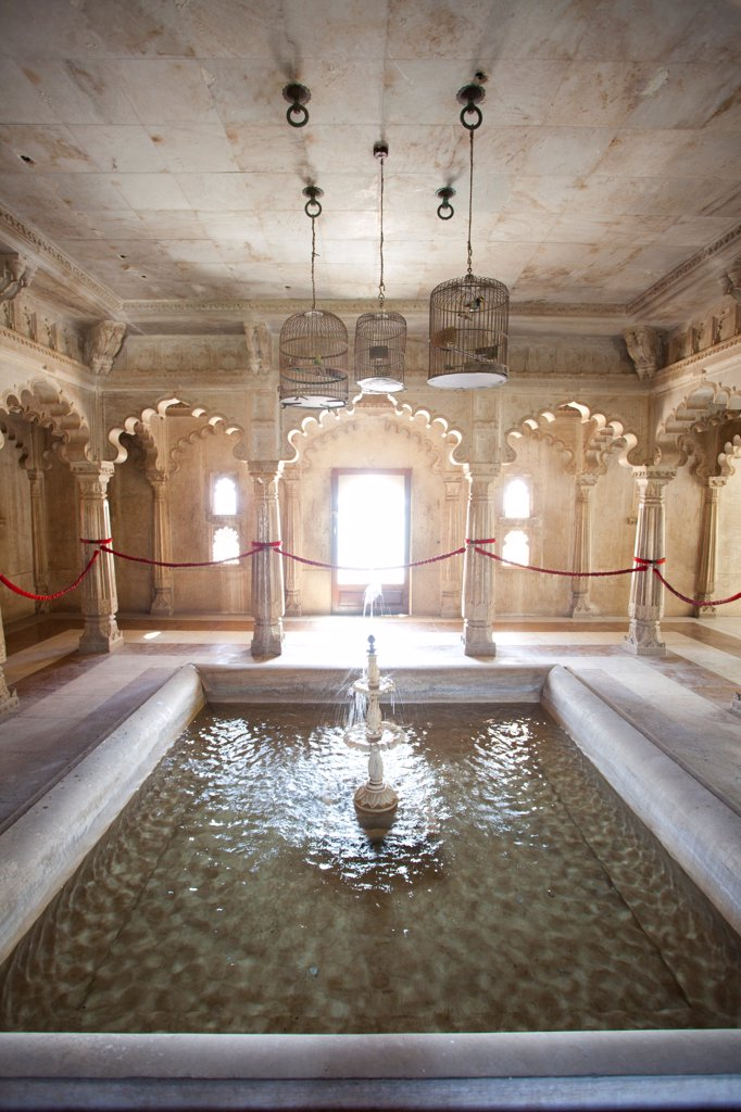 Stock Photo: 1838-13736 Indoor Fountain, City Palace,  Udaipur, India