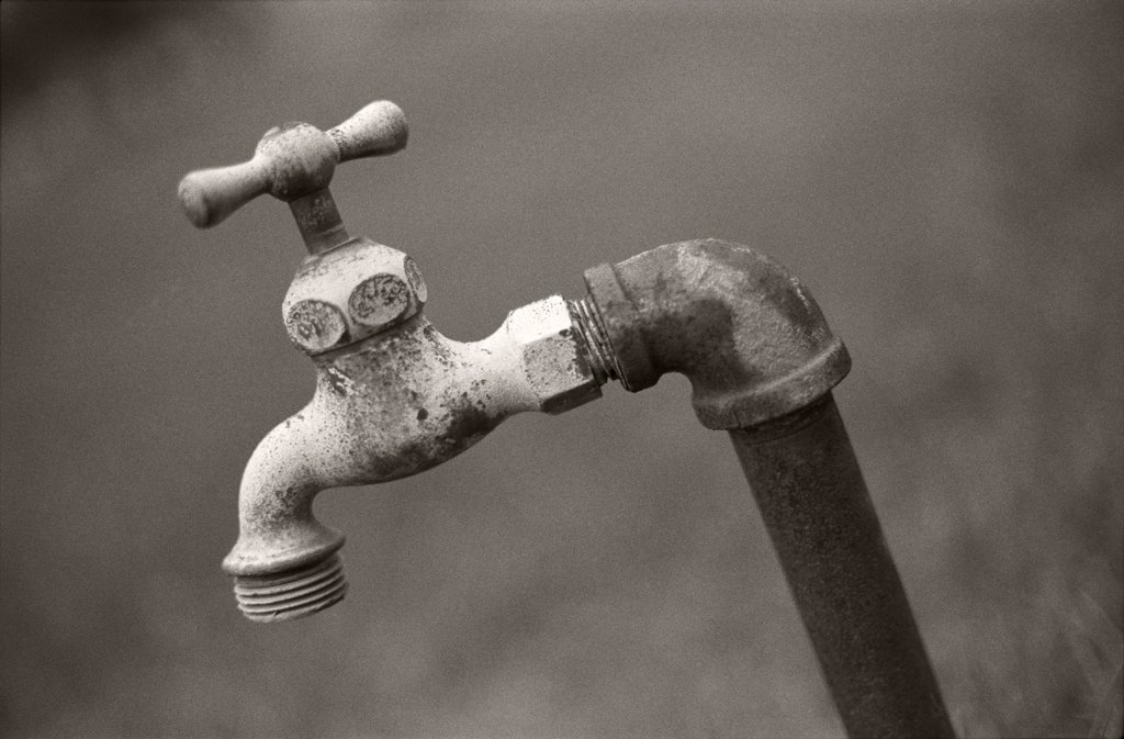 Stock Photo: 1838-13826 Rustic Outdoor Faucet