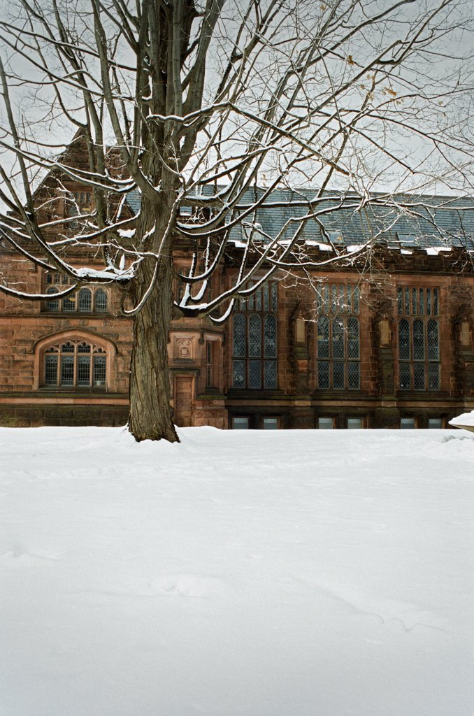 Stock Photo: 1838-13842 Snowy College Campus